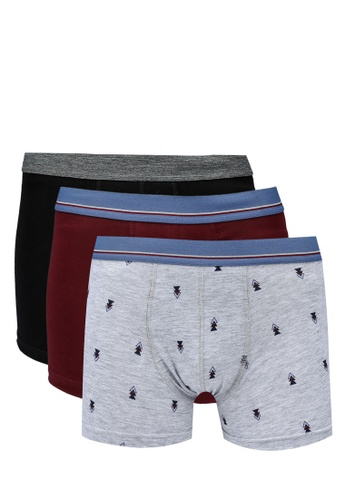 KOTON red 3-Pack Boxers B8E34USB400F24GS_1