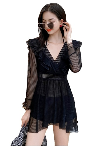 A-IN GIRLS black (3PCS) Sexy Gauze Bikini Swimsuit EC127US48FB981GS_1