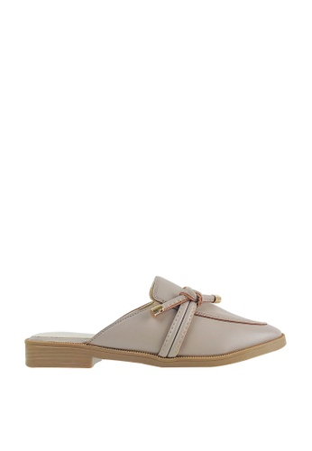 CO BLANC CO BLANC Mule Flats with Twisted Knot 2BB1CSH9C3AC69GS_1