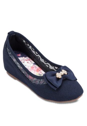 蝴蝶esprit衣服目錄結蕾絲平底鞋, 鞋