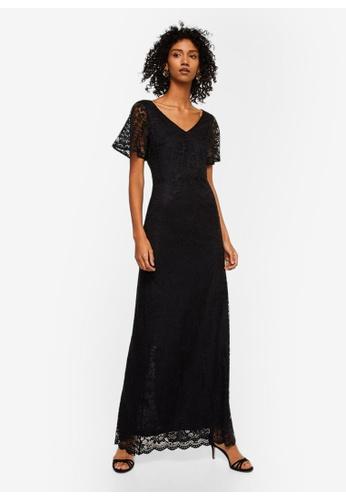 Mango black Lace Detail Gown 7412DAA383CF15GS_1
