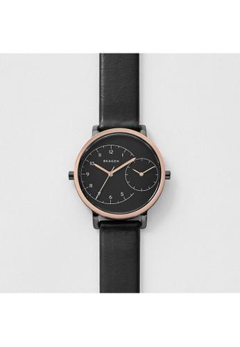 Skagen HAGEN極簡風格 黑色皮錶帶 女錶 SKW2475, 錶類, esprit outlet 家樂福時尚型