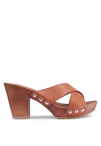 Noveni 褐色 休閒厚底高跟鞋 DCA0BSH63B348EGS_1
