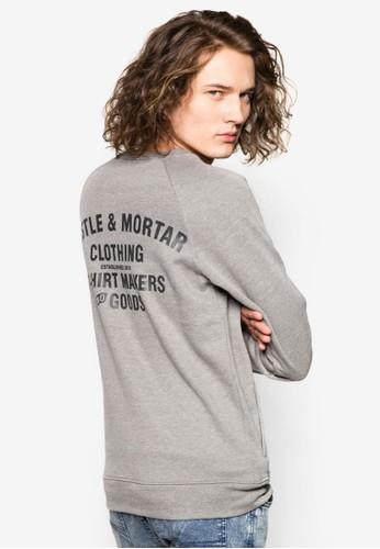 文字印花棉質長袖衫, 服飾zalora 評價, 運動衫