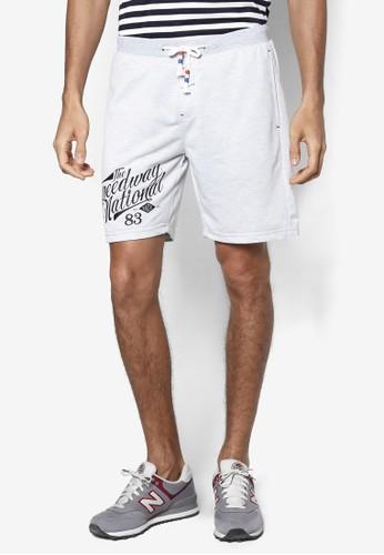 Terry 文字設計休閒短褲, 服飾,esprit門市地址 短褲