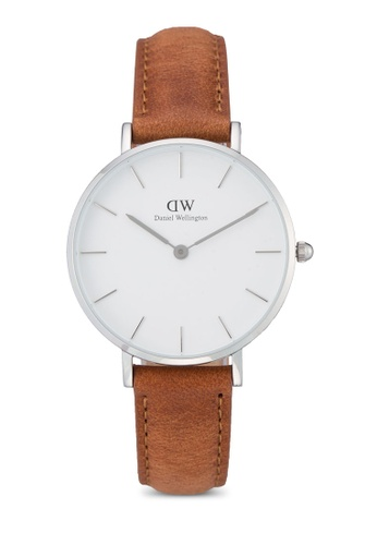 Daniel Wellington brown and silver Classic Petite Durham Watch DA376AC47PMEMY_1