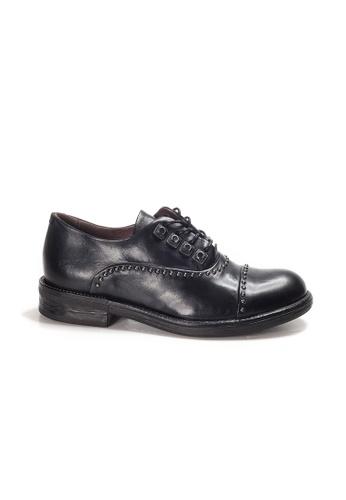 Shu Talk 黑色 LeccaLecca 英倫綁帶舒服真皮牛津鞋 BBC8FSH5D26913GS_1