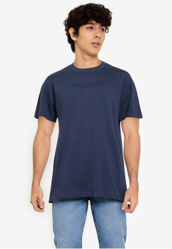 ABERCROMBIE & FITCH navy Matchback Hookup T-Shirt 047D6AA0F4267EGS_1