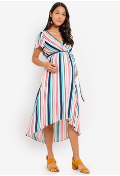 dd9595b2b7f 30% OFF Mama.licious Maternity Cubana Short Sleeve Woven Midi Dress HK$  529.00 NOW HK$ 369.90 Sizes S M L XL