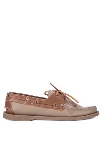 Brogue & Derby brown Dorset Genuine Leather Boat Shoes 65E7DSHEC4D913GS_1