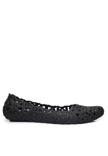 Twenty Eight Shoes 黑色 鏤空果凍雨鞋及沙灘涼鞋 VR02 A73E4SHB4B3B75GS_1