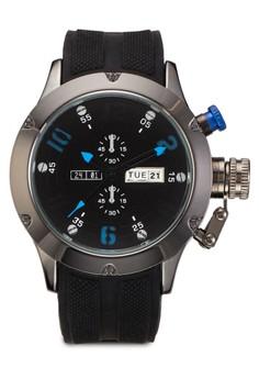 橡膠錶帶撞色手錶