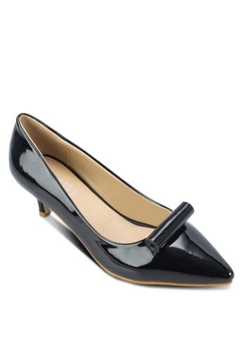 Tzalora 衣服尺寸hea 捲軸漆面高跟鞋, 女鞋, 厚底高跟鞋
