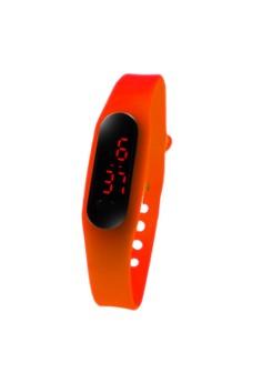 Digital LED Slim Dots Unisex Silicone Strap Watch