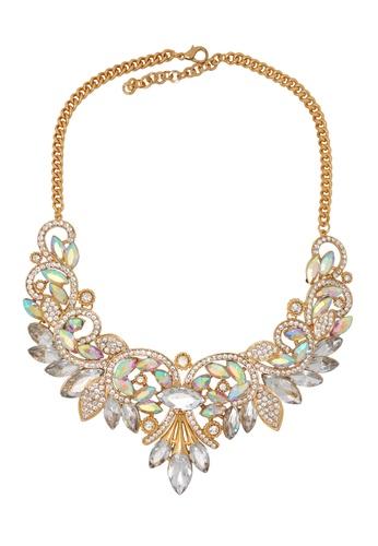 Jaysa Collection gold Mermaid Princess Crystal Necklace JA875AC22YZPSG_1