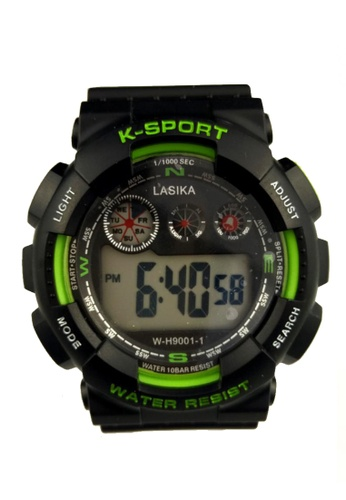 Lucky JX black Sport Flash Watch 285EAACF3DA6D5GS_1