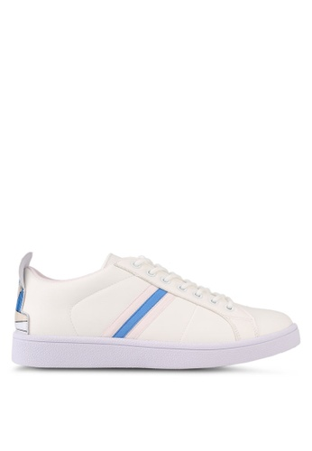 Something Borrowed white Stripe Girl Sneakers 3B9D6SH8F18EE9GS_1