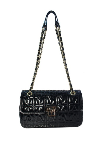 Valentino Rudy black Valentino Rudy Patent Leather Shoulder Bag 51E0AAC5293E52GS_1