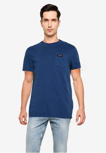 SUPERDRY blue Dry Goods Pocket Tee D1D0DAAC7F69AFGS_1