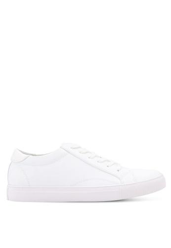 ZALORA white Essential Faux Leather Sneakers 5204DSHDEB6E21GS_1