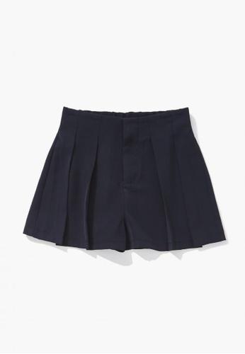 FOREVER 21 black Pleated Shorts E3F2EKA7B67C81GS_1