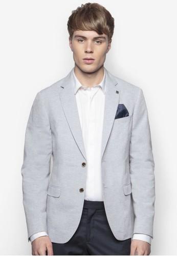 esprit outlet 桃園暗紋西裝外套, 服飾, 休閒西裝外套