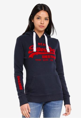 3dcfb131dec8 Buy Superdry Vintage Logo Emboss Flock Entry Hood