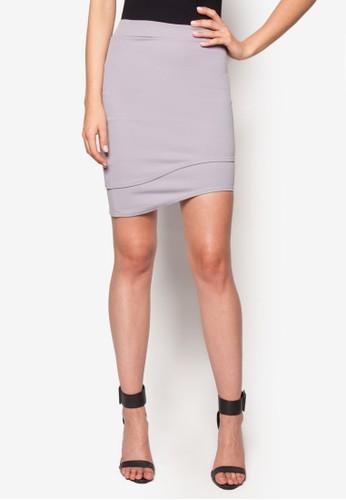 不規則弧形迷你esprit高雄門市短裙, 服飾, 裙子