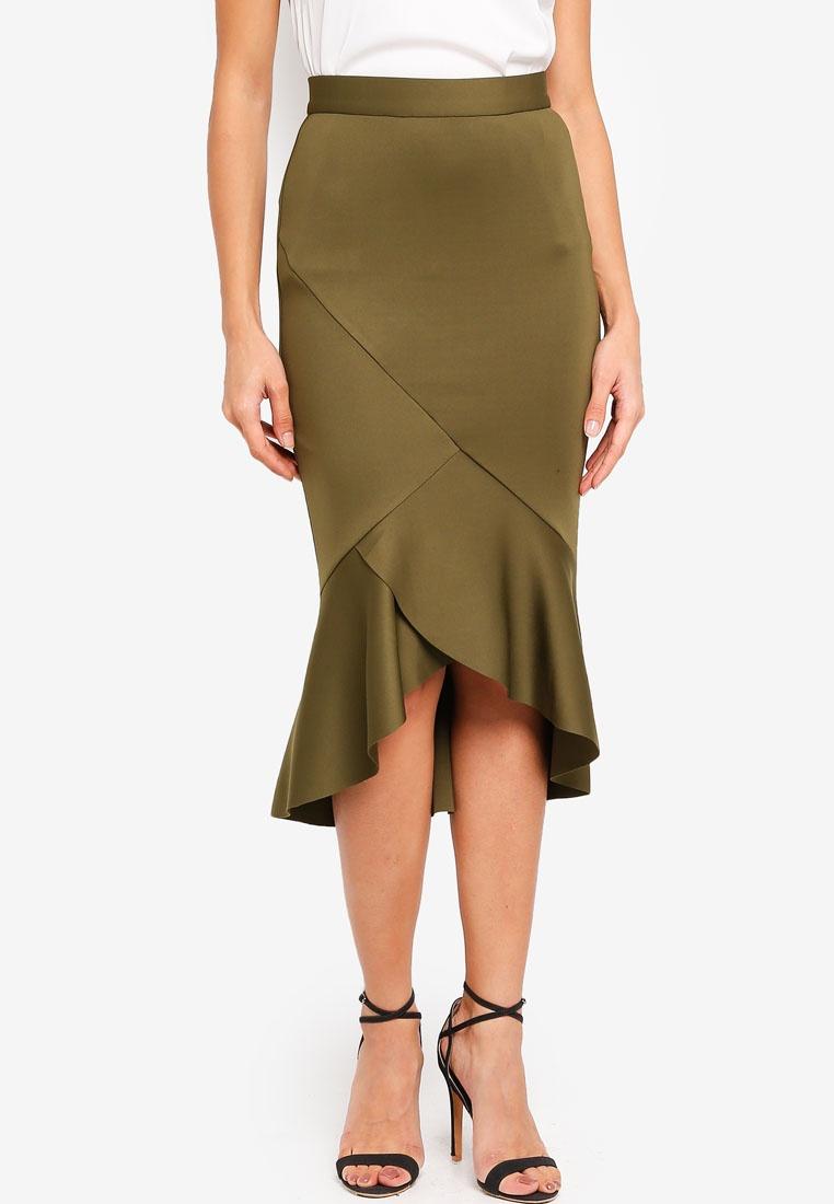 Skirt Hem bYSI Mermaid Green Ruffle qxSUwOfTX
