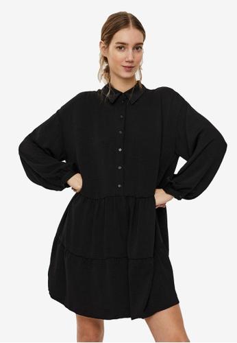 Vero Moda black Wigga Long Sleeve Shirt Dress D2716AA415C29EGS_1