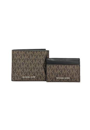 Michael Kors brown Michael Kors Gifting Billfold wallet with Card Case Box Set A5273AC5008901GS_1