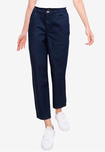 Denim Crew blue Women Paper Waist Denim Pants B15A1AAADEACBAGS_1