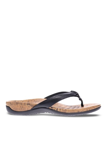 Vionic black Cassie Toe Post Sandal E1084SH7BB098FGS_1
