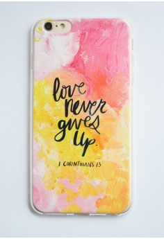 Love Never Gives Up Soft Case for iPhone 6+