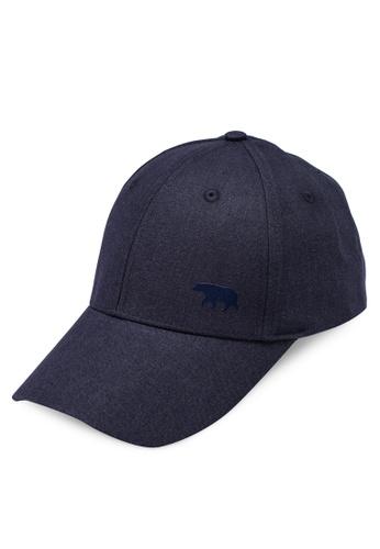 Running Bare navy Cleo Bear Linen Cap 27999AC36339B5GS_1