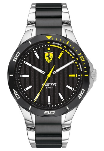 Scuderia Ferrari multi Scuderia Ferrari Pista Silver & Black Men's Watch (0830762) 1B5DCAC4BBEA1DGS_1