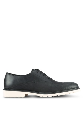 ZALORA black Faux Leather Casual Brogues 96166AA474395BGS_1