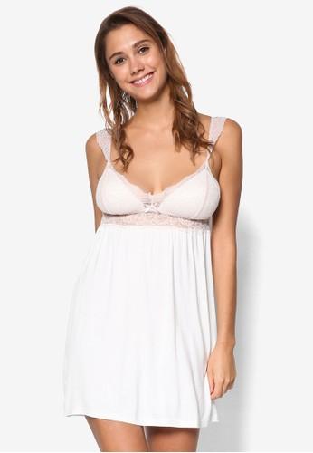 Serafina 細肩帶蕾絲睡裙、 服飾、 睡衣、 睡裙和連身a href=