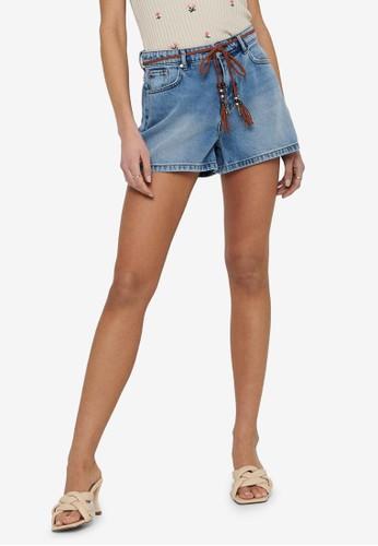 ONLY blue Kelly High Waist Shorts 8E8A2AAB2F1A88GS_1