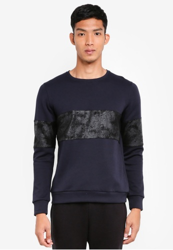 UniqTee black Sweater With Contrast Band 5A954AA2562CFBGS_1