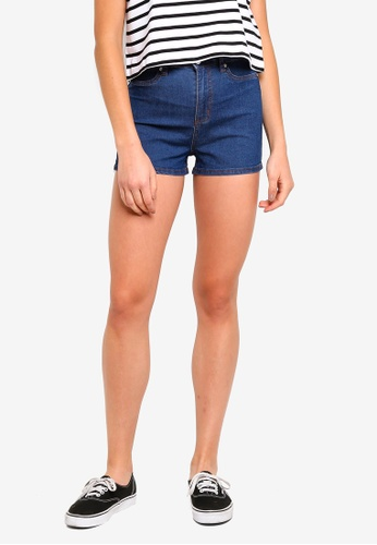 Factorie blue Denim Stretch Shorts 23819AA59A7EC4GS_1