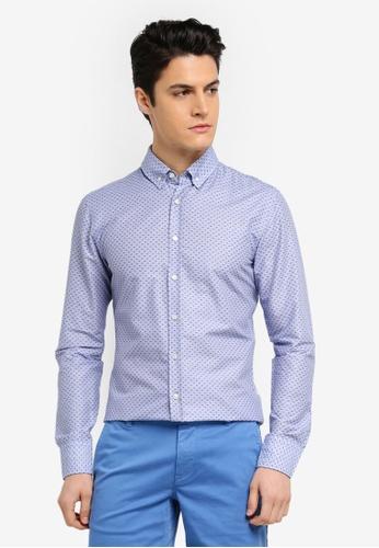 BOSS blue Preppy Shirt BBFA7AA5E22B91GS_1