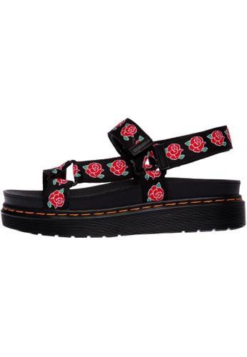 paperplanes black SNRD-211 Women Fashion Rose Pattern Velcro Sandals Shoes PA110SH81OYSHK_1