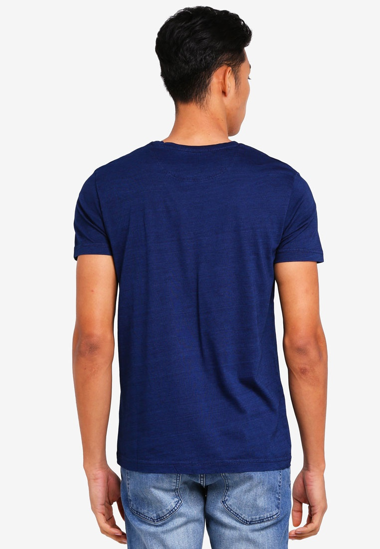 T Shirt Navy Sleeve Short ESPRIT 5wqnC8PxX