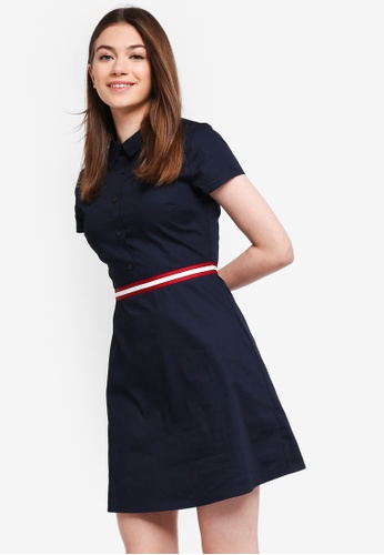 Something Borrowed navy Striped Trim Shirt Dress B2E4EAA07F801AGS_1