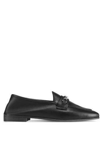 TOPSHOP black Key Trim Loafers F639FSH6F89FEBGS_1
