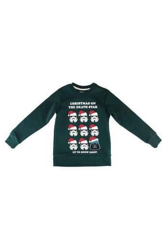 Jack & Jones green Boys X-Mas Star Wars Sweatshirt EDA04KAE67217BGS_1