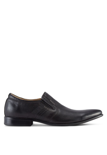 Knight black Faux Leather Slip On Shoes KN875SH10OLTMY_1