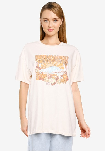 Cotton On white The Relaxed Boyfriend Graphic Tee 6B303AAAA40562GS_1