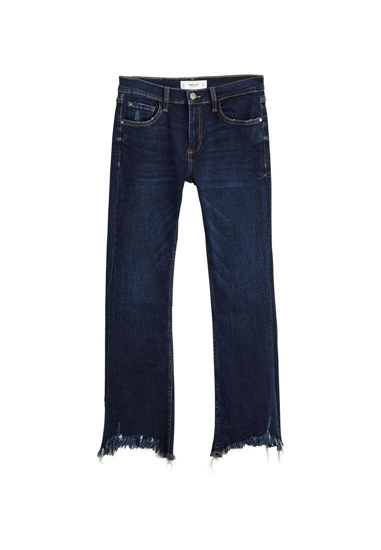 Frayed Blue Edges Mango Open Jeans YRdwTOn